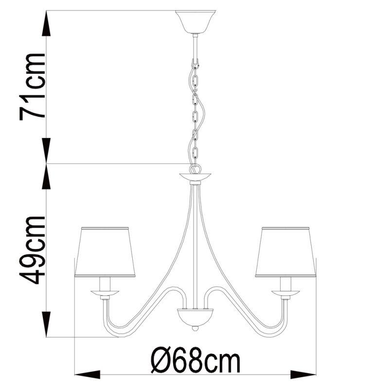Светильник подвесной AURORA A1150LM-5CC. Фото №4