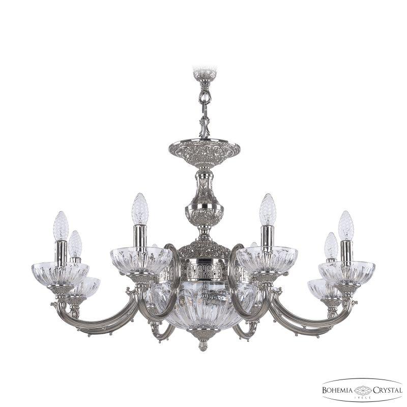 Люстра Bohemia Ivele Crystal 72209P/8/210 Ni P Clear/M-1H