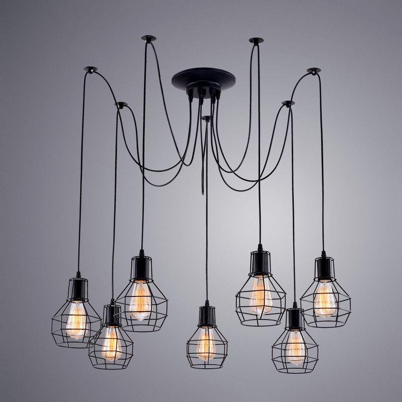 Светильник подвесной Arte Lamp A1109 A1109SP-7BK