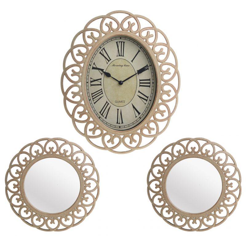 Часы настенные и 2 зеркала To4rooms Santu Georghe BD-915960