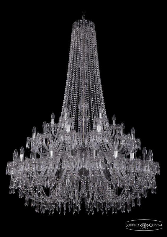 Люстра Bohemia Ivele Crystal 1403/24+12+6/460/h-177/2d Ni