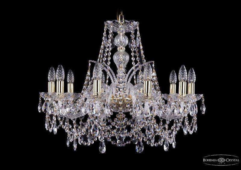 Подвесная люстра Bohemia Ivele Crystal 1411/10/240 G