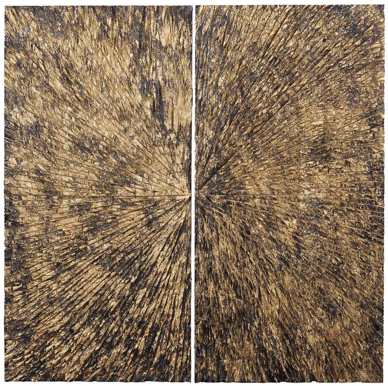 Панно Вселенная-2 черная с золотом 35541