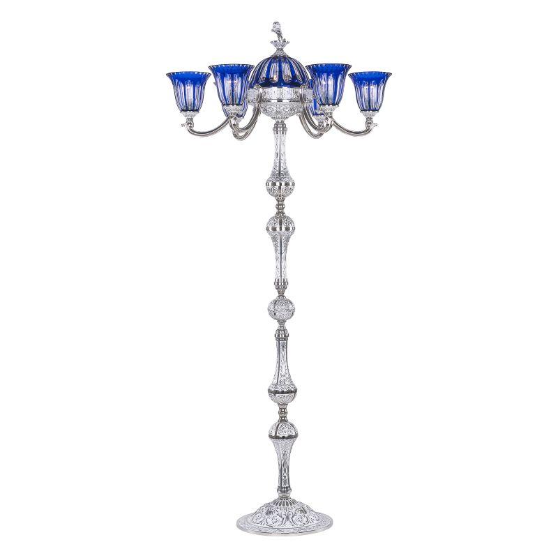 Торшер Bohemia Ivele Crystal 72009TP/6/175 NW P2 U Clear-Blue/H-1H FL3S
