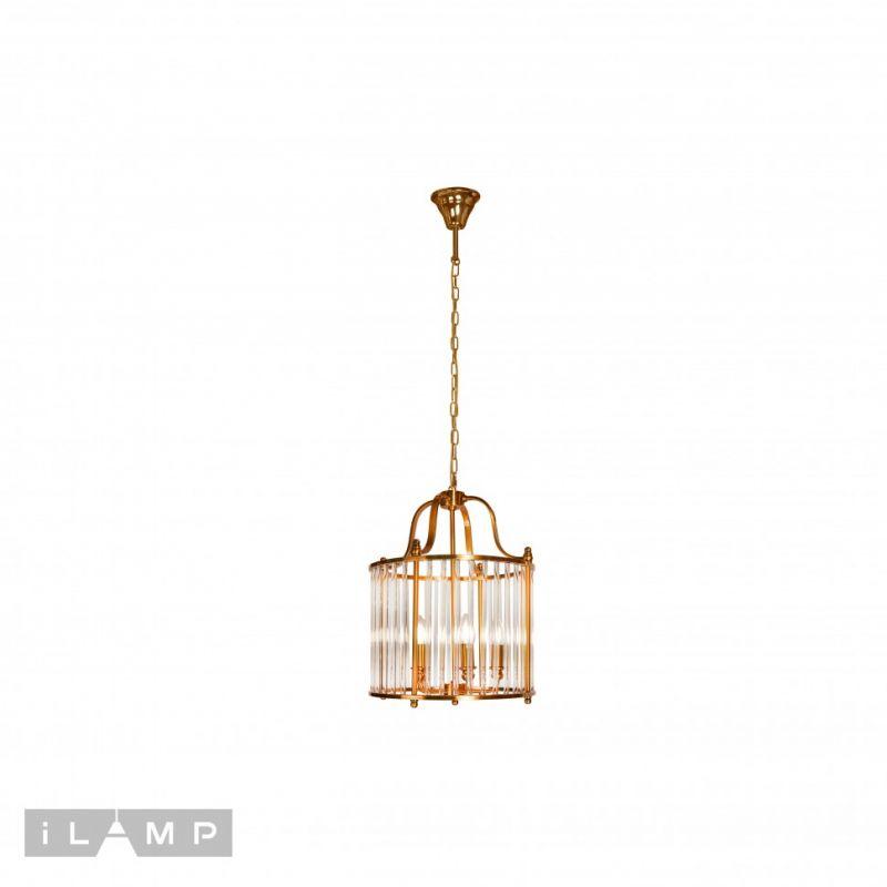 Подвесная люстра iLAMP Qeens P2437-5 Bronze