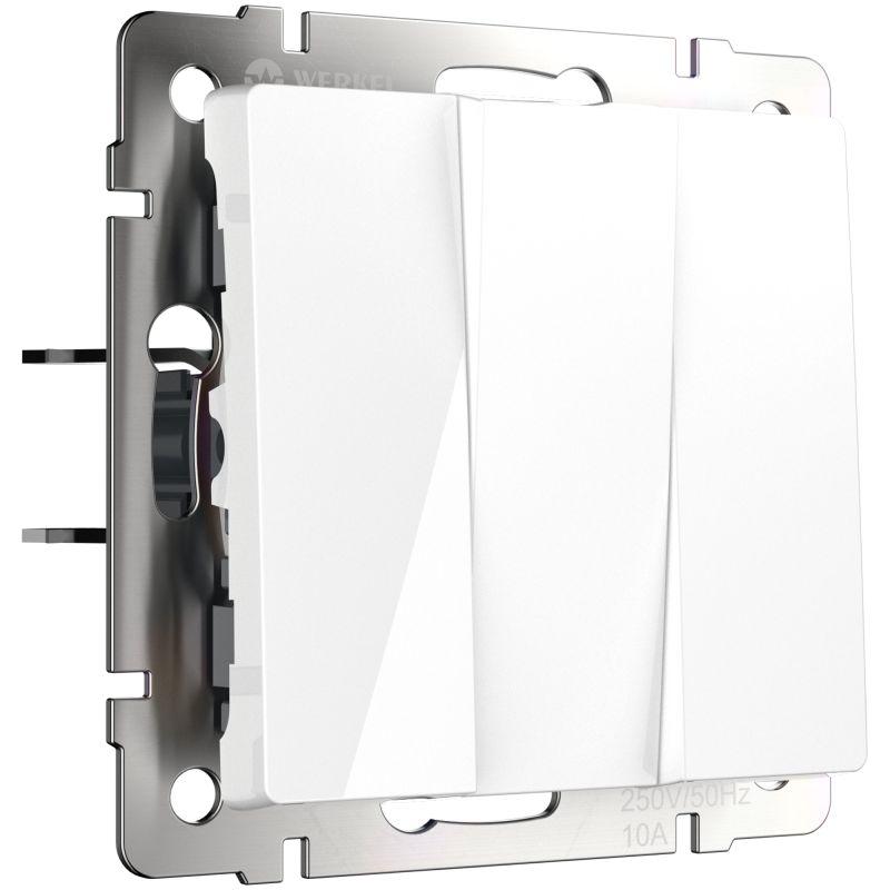 Выключатель трехклавишный Werkel (белый) W1130001