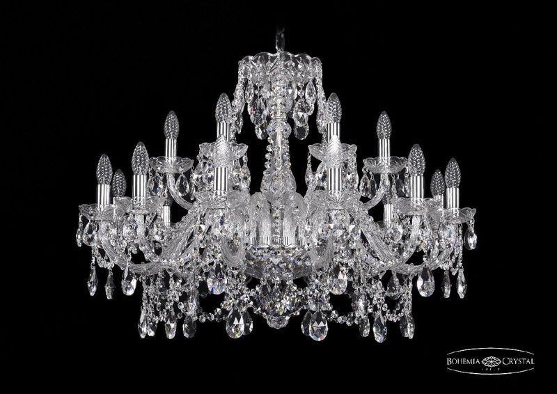 Подвесная люстра Bohemia Ivele Crystal 1411/12+6/300 Ni