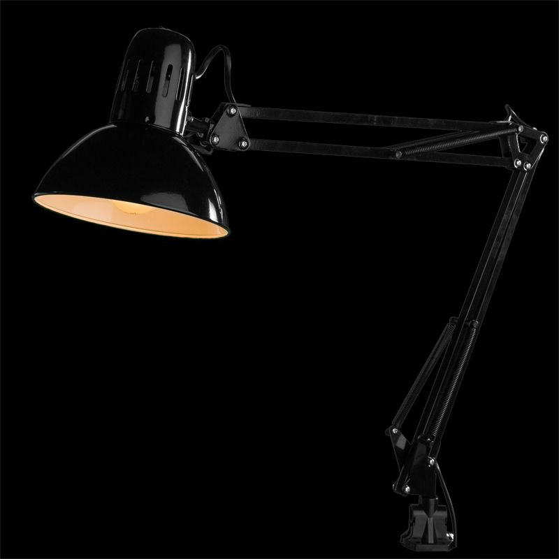 Настольная лампа на струбцине SENIOR A6068LT-1BK. Фото №1