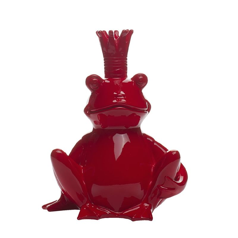 Статуэтка Лягушка-Король D2318 красная