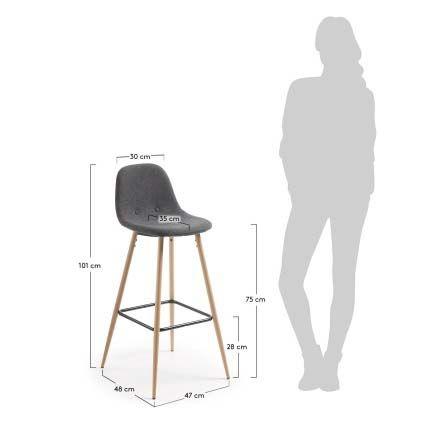 Барный стул La Forma (ex Julia Grup) Nilson 52520. Фото №4