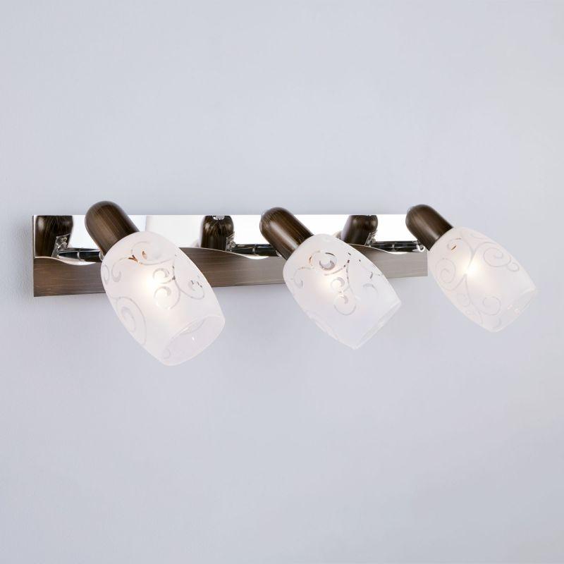 Настенный светильник Eurosvet Andre 60301/3 хром/венге