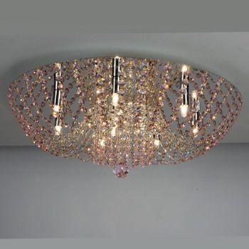 Люстра хрустальная Орион Розовый CL305101
