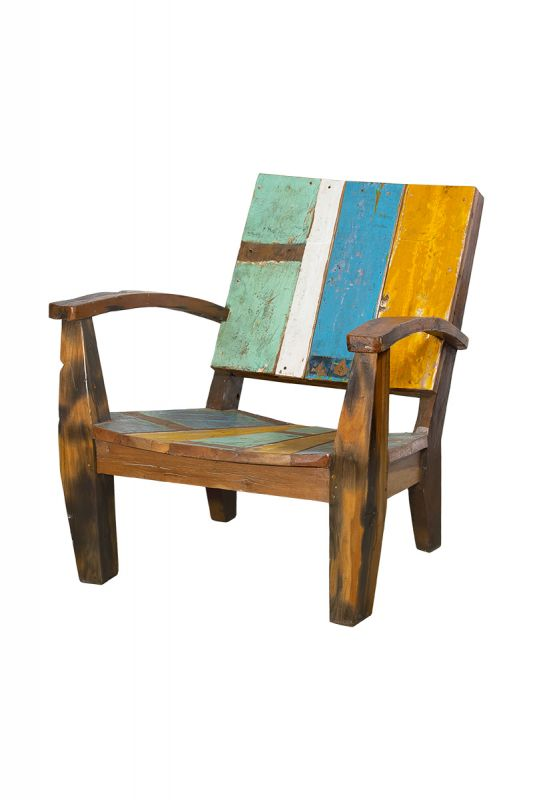 Кресло Ньютон голубо-желтое Like Lodka Lombok BD-873103