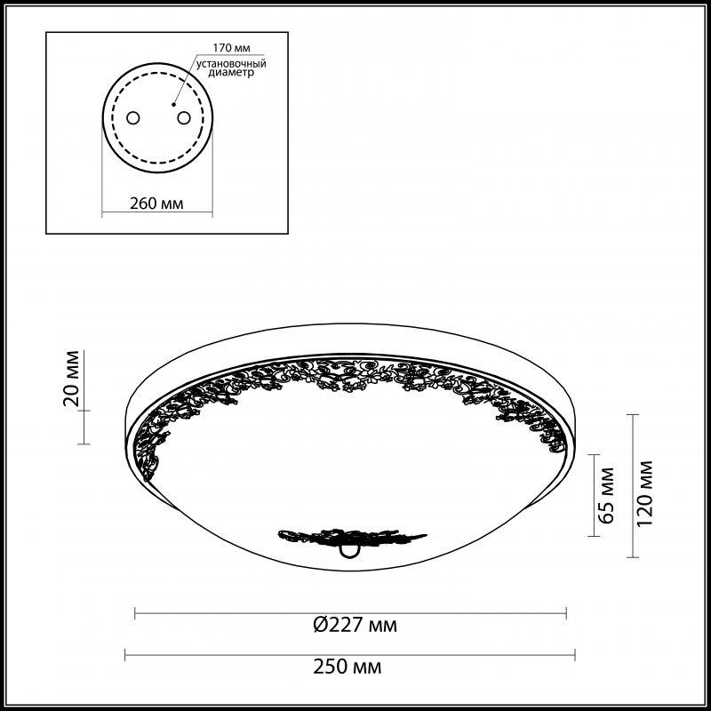 Настенно-потолочный светильник Odeon Light Alesia 2676/3C. Фото №1