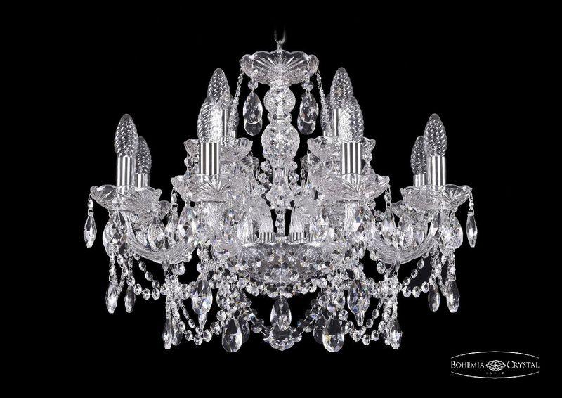 Подвесная люстра Bohemia Ivele Crystal 1411/8+4/195 Ni