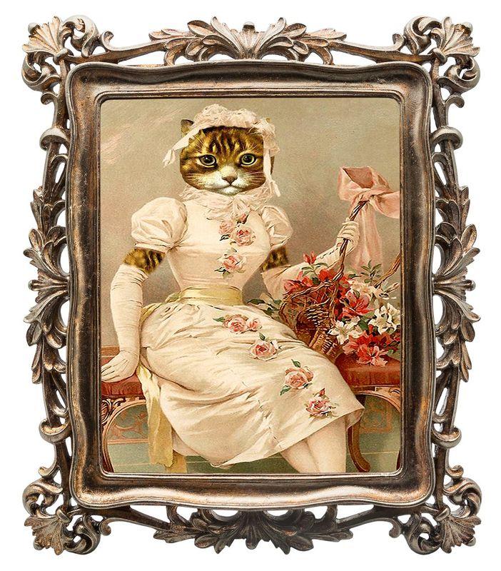 Репродукция старинной гравюры Картинная галерея 85213707
