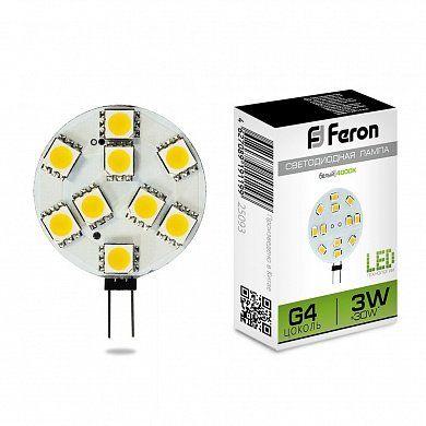 Лампа светодиодная LB-16 25093 3W 12V G4 4000K