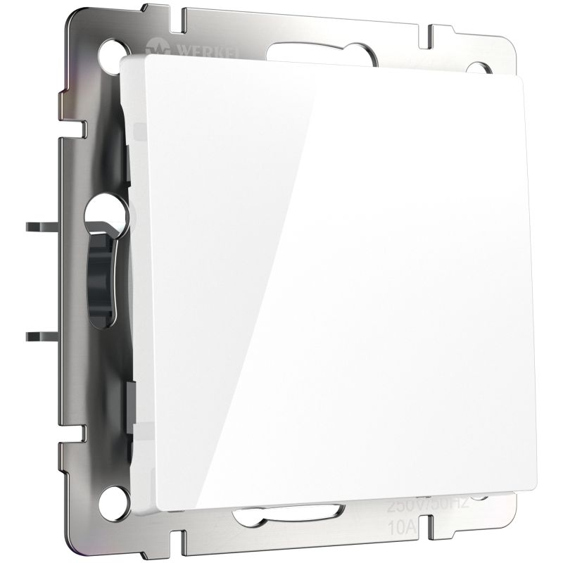 Выключатель одноклавишный Werkel (белый) W1110001