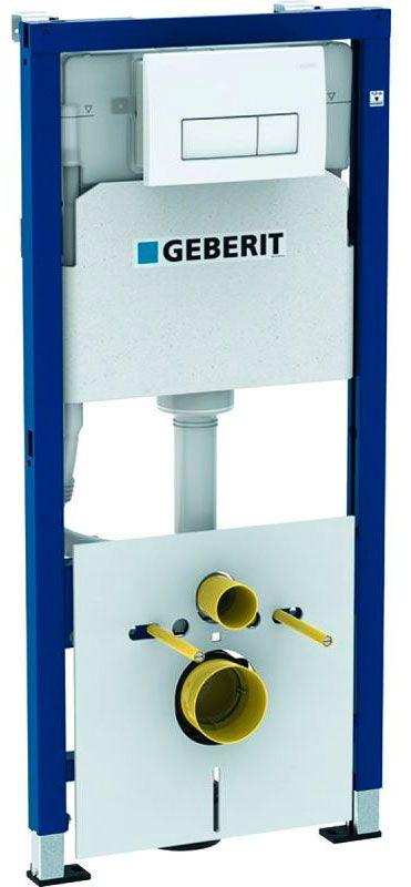 Инсталляция для подвесного унитаза GeberitDuofix 458.128.11.1 кнопка белая, механика