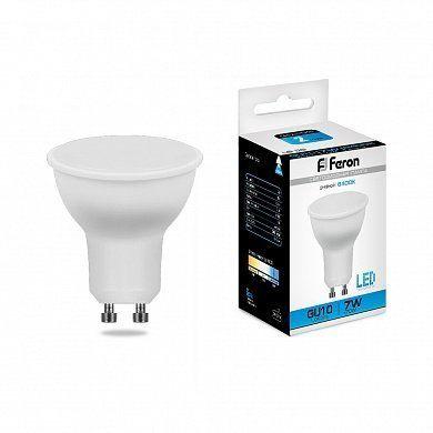 Лампа светодиодная Feron LB-26 25291 GU10 7W 6400K