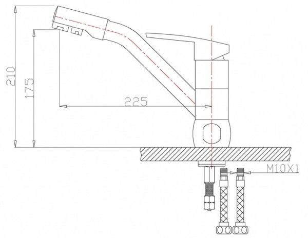 Смеситель для кухни Zorg Sanitary ZR 400 KF-12. Фото №4