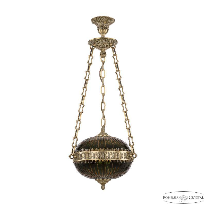 Подвесной светильник Bohemia Ivele Crystal 71000P/30 FP Amber-Green/H-1K