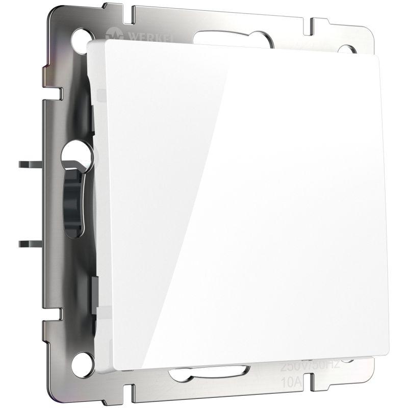 Выключатель одноклавишный проходной Werkel (белый) W1112001