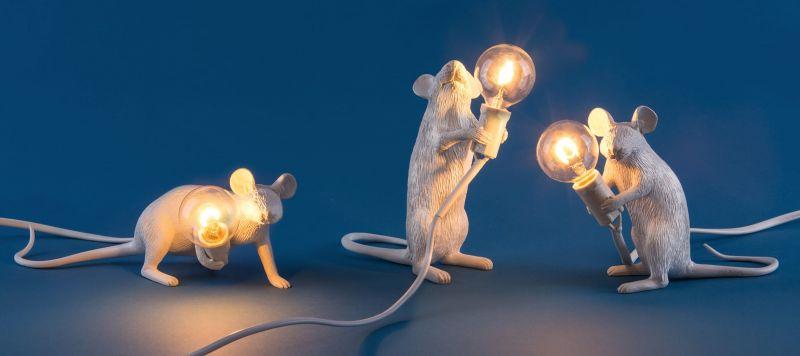 Лампа светодиодная Seletti Mouse Lamp 14884L. Фото №4
