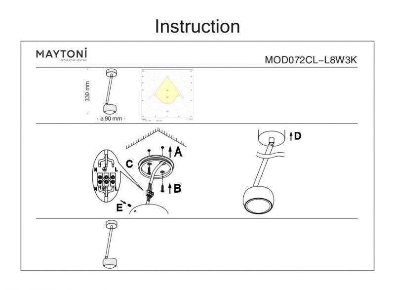 Потолочный светильник Maytoni Lens MOD072CL-L8W3K. Фото №5