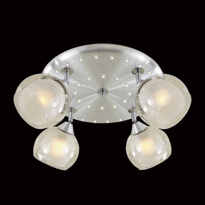Люстра потолочная со светодиодной подсветкой Самба CL158142. Фото №1