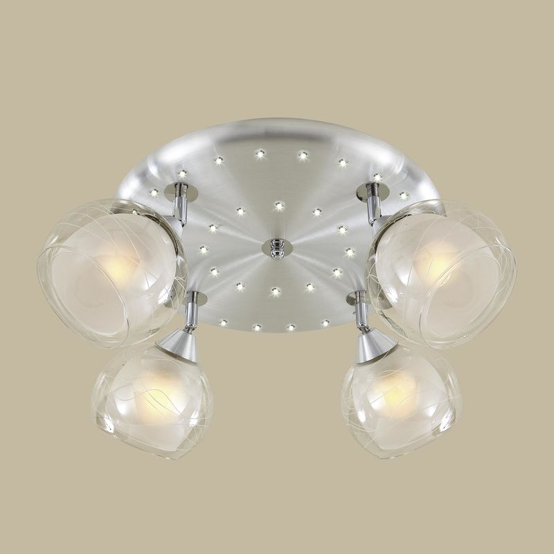 Люстра потолочная со светодиодной подсветкой Самба CL158142. Фото №2