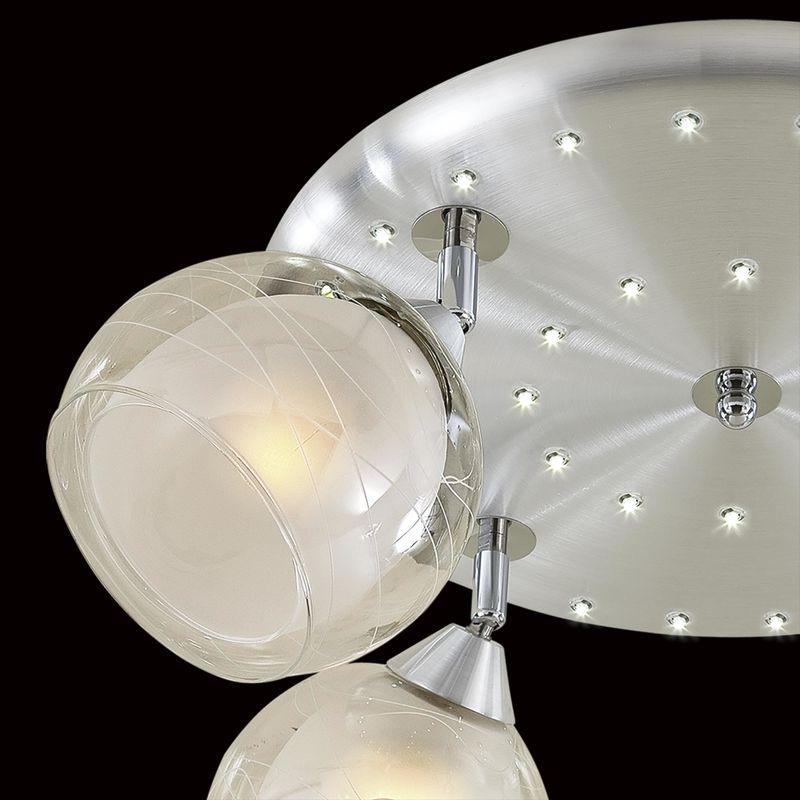 Люстра потолочная со светодиодной подсветкой Самба CL158142. Фото №3