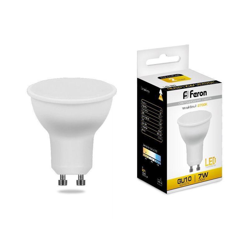 Лампа светодиодная Feron LB-26 GU10 7W 2700K 25289