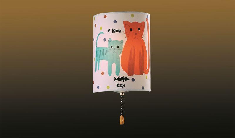 Бра для детской с выключателем Odeon Light Cats 2279/1W