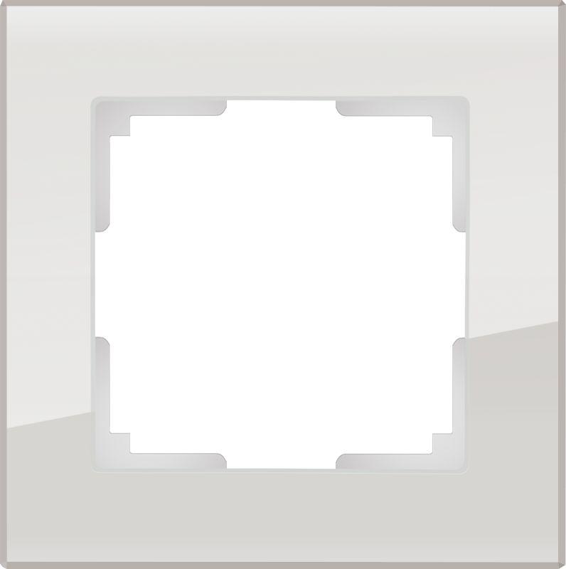 Рамка на 1 пост Werkel (дымчатый,стекло) WL01-Frame-01
