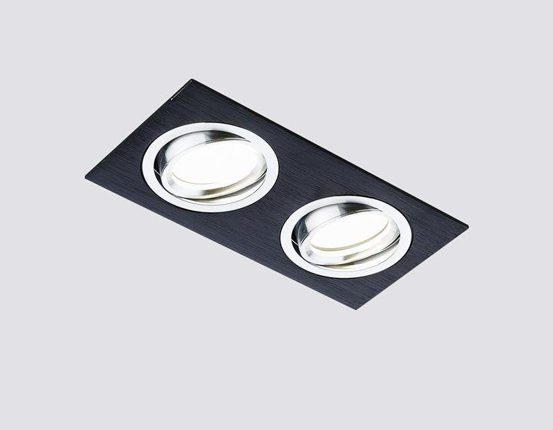 Встраиваемый светильник Ambrella ORGANIC SPOT A601/2 BK. Фото №1