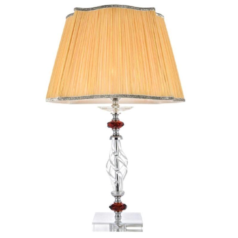 Настольная лампа CATARINA LG1 GOLD/TRANSPARENT-COGNAC