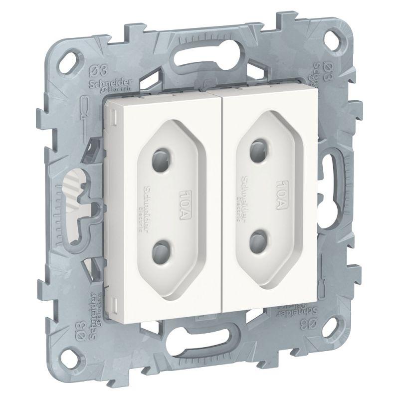 Электрическая розетка 2-модульная Schneider Electric Unica NEW BD-1511079