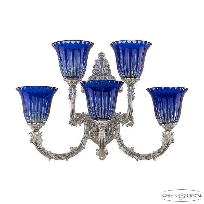 Бра Bohemia Ivele Crystal 7109B15/3+2/210 NW P2 U Clear-Blue/H-1K