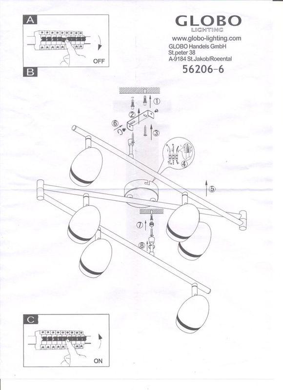 Светильник потолочный (спот) MANJOLA 56206-6. Фото №3