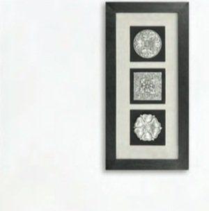 Панно Вертикальный декор-2 черная рама 17339B. Фото №3