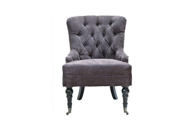 Кресло, коричневый велюр PJC098-PJ843