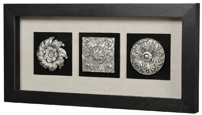 Панно Вертикальный декор-1 черная рама 17339A. Фото №1