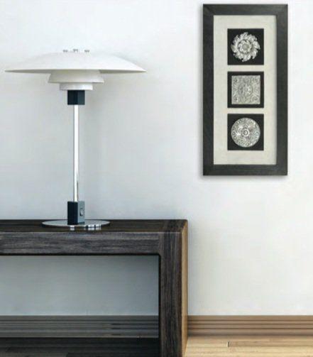 Панно Вертикальный декор-1 черная рама 17339A. Фото №3