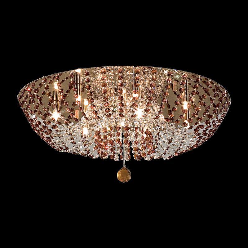 Люстра хрустальная Орион Янтарный CL305103. Фото №1