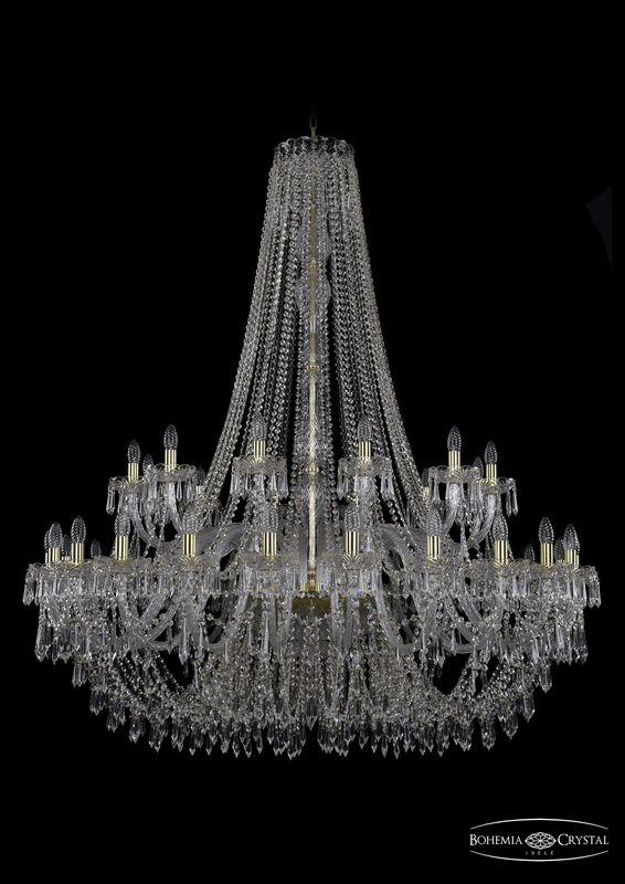 Люстра Bohemia Ivele Crystal 1403/24+12/530/h-160 G