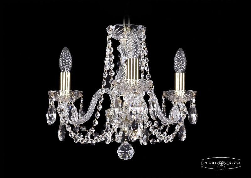 Подвесная люстра Bohemia Ivele Crystal 1402/3/141 G