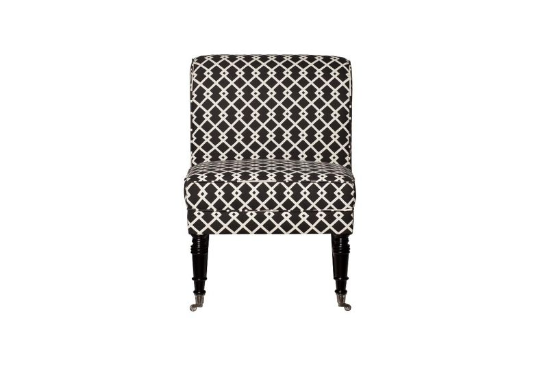 DY-734 Кресло лен черно-белый 61х73х87 см