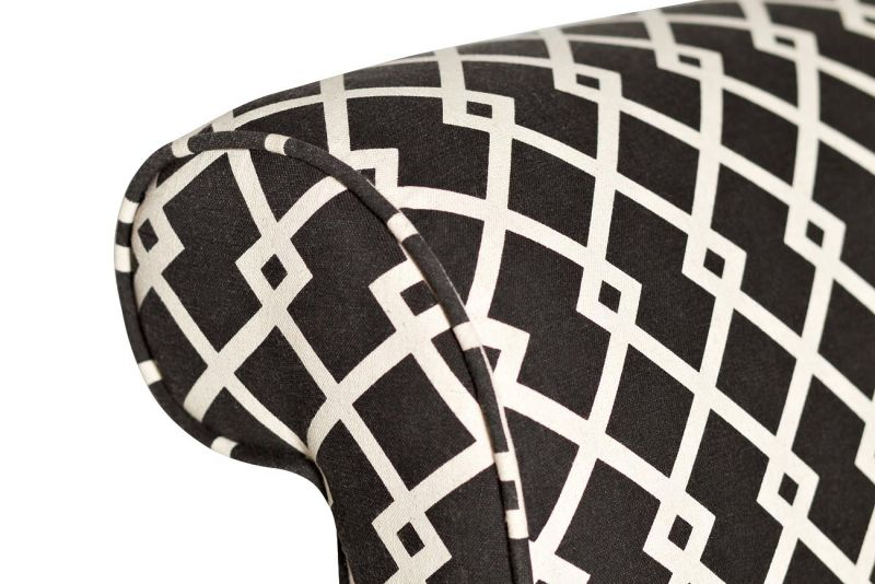 DY-734 Кресло лен черно-белый 61х73х87 см. Фото №2