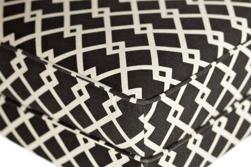 DY-734 Кресло лен черно-белый 61х73х87 см. Фото №3
